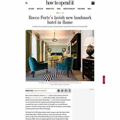 rocco forte's lavish new landmark hotel in rome - tommaso ziffer
